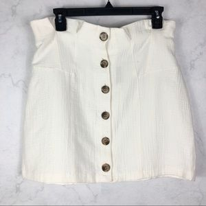 [Topshop] White Button Down Skirt